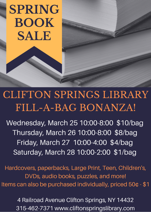 Spring 2020 Book Sale pic