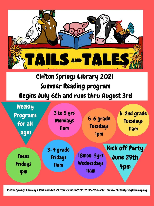 Summer Reading 2021 Kids Flyer